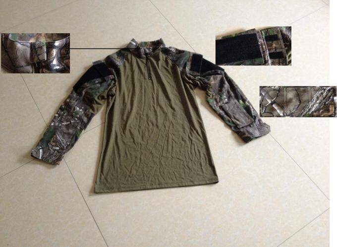 Breathable Wear Resistant Desert Camo Tactical Combat Shirt Woodland For Military