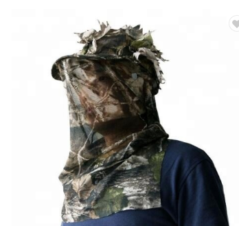 Customised Leafy Hunting Suit 3D Sneaky Cap Hunting Hat 3D Sneaky Camo Cap Facemask