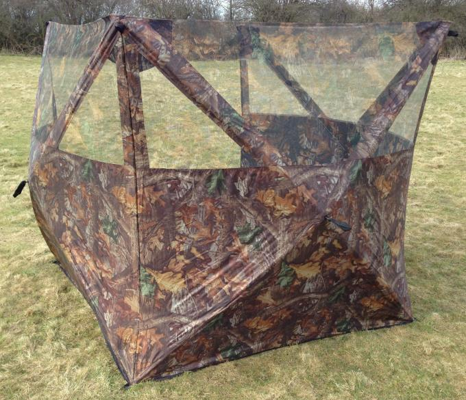 Black Pu 300D Camo Polyester Camo Hunting Blind Three Sides Open Field Hunting Blind