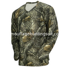 China Wicking Long Sleeve Camouflage Hunting Suit Camo Fishing T Shirt 100% Poly Knit Grid supplier