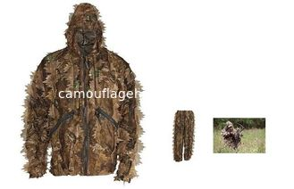 China 3D Mesh Leaf camo set Super Natural Camouflage Leafy Hunting Ghillie Suit supplier