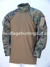 China Breathable Wear Resistant Desert Camo Tactical Combat Shirt Woodland For Military supplier