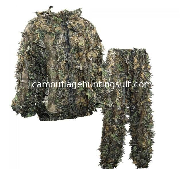 42efffe8175d3 China OEM Sneaky 3D Leafy Hunting Suit 3D Leaf Camouflage Leafy Ghillie Suit  supplier