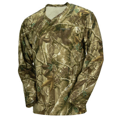 Good Quality Camouflage Hunting Suit & Hunting Camo Long Sleeve Camouflage T Shirt 100% Poly With Wicking Function on sale