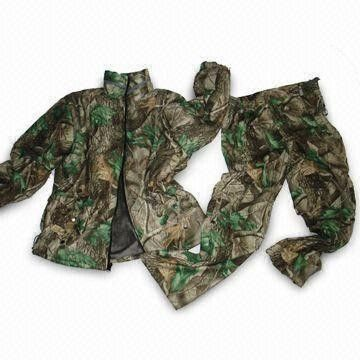 Good Quality Camouflage Hunting Suit & Water Resistant Camouflage Hunting Suit With Tpu Membrane And Tricot Shell on sale