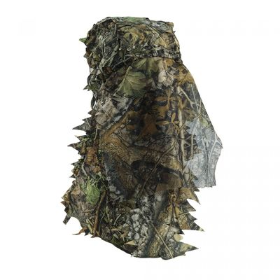 China Safety full Face Mask Surround Mesh With Elasticated Draw Cord Duck Hunting Face Mask 3D Leaf Face Hunting Mask distributor