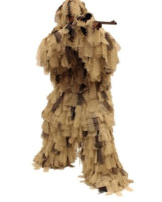 China Big Game Ghillie Suit Oak Leaf 3D Camouflage Ghillie Suit distributor