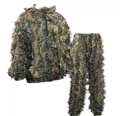China OEM Sneaky 3D Leafy Hunting Suit 3D Leaf Camouflage Leafy Ghillie Suit distributor