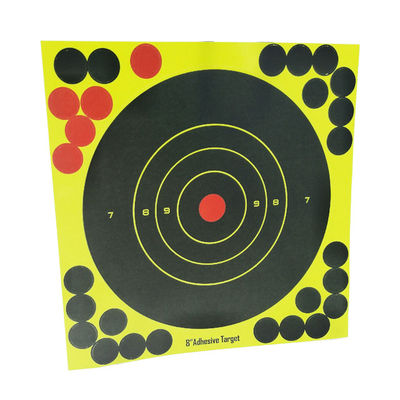"China Heavy Card Reactive Splatter Shooting Targets Multi Colour  Super Splatter Targets 8"" Self Adhesive Shooting Targets factory"