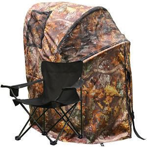 China Pro Hunting Chair One Man Ground Blinds Real Tree Camo Tent for Deer Turkey , Duck factory
