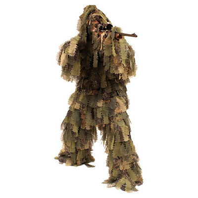 China 3D Leaf Camouflage Ghillie Suit Camo Ghillie Suit Hunting Ground Blind Hunting Clothes factory
