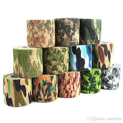 China Self Adhesive Non Woven Camouflage Wrap Rifle Hunting Shooting Cycling Tape Waterproof Camo Stealth Tape factory