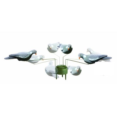 China Lightweight Durable Hunting Decoys Pigeon rotary And Crow Decoys Triple Play Pigeon Decoys distributor
